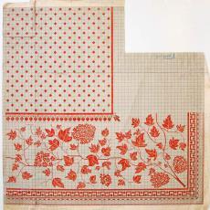 Patroontekening voor droogdoeken 80x60 (No. HW2) - W.J. van Hoogerwou & Zn. (Boxtel), Textielmuseum (registratiefoto)