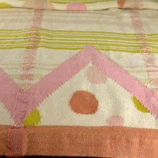Divankleed met geometrisch dessin - Het (Voorschoten) Paapje (toegeschreven), Textielmuseum (registratiefoto)
