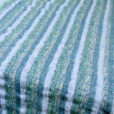 Tafelkleed met blauw streeppatroon - Handweverij en Ontwerpatelier K. v.d. Mijll Dekker (Nunspeet), Textielmuseum (registratiefoto), Kitty van der Mijll Dekker (Fischer-)