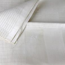Pellendamast tafellaken met servetten met stippen en strepen - Textielmuseum (registratiefoto), Textielmuseum (registratiefoto), onbekend