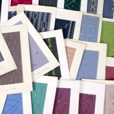 'Ontwerpen lopers modern figuratief 2 chorig' - Textielmuseum (registratiefoto), Textielmuseum (registratiefoto), Stoomweverijen Besouw (Goirle), Textielmuseum (registratiefoto), Textielmuseum (registratiefoto)