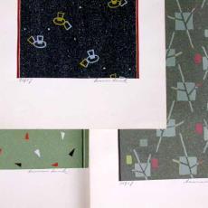 'Ontwerpen lopers modern figuratief 2 chorig' - Textielmuseum (registratiefoto), Stoomweverijen Besouw (Goirle), Jos Linnenbank
