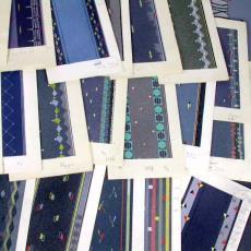 'Uitgevoerde ontwerpen serie 3000' - Textielmuseum (registratiefoto), Textielmuseum (registratiefoto), Stoomweverijen Besouw (Goirle), Textielmuseum (registratiefoto), Textielmuseum (registratiefoto), Textielmuseum (registratiefoto)