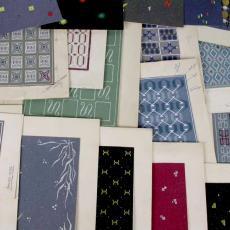 'Uitgevoerde ontwerpen serie 9000/7000' - Stoomweverijen Besouw (Goirle), Textielmuseum (registratiefoto), Textielmuseum (registratiefoto)