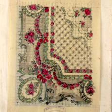 'Ontwerpen lopers klassiek Axminster' - Stoomweverijen Besouw (Goirle), Textielmuseum (registratiefoto), Heinrich Otte