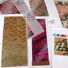 Map met ontwerpen en proefstalen voor 'Digidruk', interieurstoffen - Textielmuseum (registratiefoto), Textielmuseum (registratiefoto), Textielmuseum (registratiefoto), Eugène van Veldhoven, Nederlands Textielmuseum, Textielmuseum (registratiefoto)