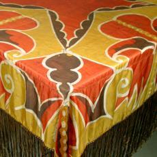 Vleugelkleed met bloem en vlinder - Louis Bogtman (toegeschreven), Textielmuseum (registratiefoto)