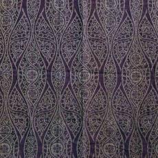 Jacquardgeweven wollen gordijn met patroon van spitsovalen - Textielmuseum (registratiefoto), Theodoor Nieuwenhuis, Textielmuseum (registratiefoto)