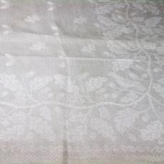 Staal servet met eikenbladpatroon - Textielmuseum (registratiefoto), Linnenfabriek Wed. J. van Nuenen & Zoon (Zeelst / Meerveldhoven)