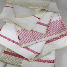 Stalenboek met stalen voor huishouddoeken - Textielmuseum (registratiefoto), Textielmuseum (registratiefoto), Linnen- en damastweverij A. Louwers (Meerveldhoven)