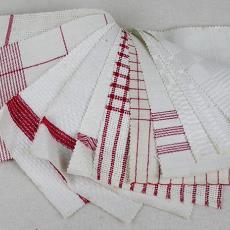 Stalenboek met stalen voor droogdoeken - Textielmuseum (registratiefoto), Linnen- en damastweverij A. Louwers (Meerveldhoven)