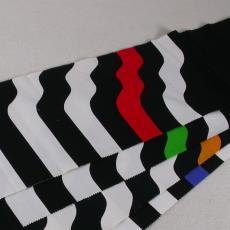 Stalenbundel gordijnstof 'Grafica' - International Kendix Textiles (Waalre), Textielmuseum (registratiefoto), Yvonne van Uden
