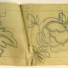 Ontwerptekening 'Roos' - Linnenfabriek Wed. J. van Nuenen & Zoon (Zeelst / Meerveldhoven), Textielmuseum (registratiefoto)