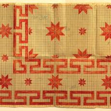 Patroontekening 'Ster met Grieksche rand' (no. 310) - Textielmuseum (registratiefoto), Textielmuseum (registratiefoto), Linnenfabriek Wed. J. van Nuenen & Zoon (Zeelst / Meerveldhoven)