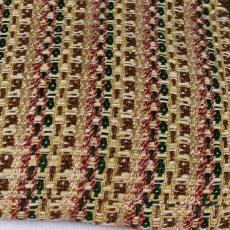Handgeweven kussen in bruin -, groen - en donkerrood tinten - Textielmuseum (registratiefoto), Kitty van der Mijll Dekker (Fischer-), Handweverij en Ontwerpatelier K. v.d. Mijll Dekker (Nunspeet)
