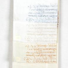'Scritto', stalenbundel gordijnstof - Weverij De Ploeg (Bergeijk), Swinkels Textieldrukkerij (Geldrop), Textielmuseum (registratiefoto), Beppe Kessler