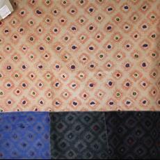 'Orion', staal gordijnstof - Textielmuseum (registratiefoto), Fuggerhaus, Taunus Textildruck (Oberursel), Beppe Kessler