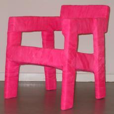 Stoel 'Easy Fracture Chair' uit serie: Fracture Furniture - Textielmuseum (registratiefoto), Ineke Hans, Textielmuseum (registratiefoto)