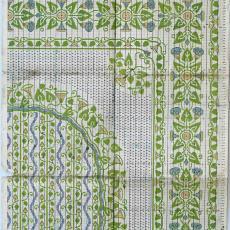 Patroontekening 'Heggewinde' (dessinnr. 188) voor vloerkleed in art-nouveaustijl - H.J. Mechanische Tapijtweverij Peters (Deventer), Textielmuseum (registratiefoto)