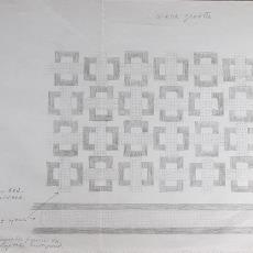 Ontwerp voor linnen handdoek (dessinnr. 603) - Kitty van der Mijll Dekker (Fischer-), Textielmuseum (registratiefoto), Handweverij en Ontwerpatelier K. v.d. Mijll Dekker (Nunspeet)