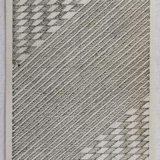 Ontwerpschets voor reliëftapijt - Handweverij en Ontwerpatelier K. v.d. Mijll Dekker (Nunspeet), Kitty van der Mijll Dekker (Fischer-), Textielmuseum (registratiefoto)