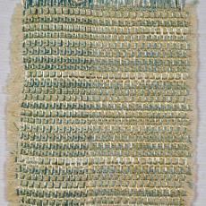 Staal van wandbespanning- of gordijnstof met cellofaan - Textielmuseum (registratiefoto), Kitty van der Mijll Dekker (Fischer-), Handweverij en Ontwerpatelier K. v.d. Mijll Dekker (Nunspeet), Textielmuseum (registratiefoto), Textielmuseum (registratiefoto)