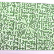 'Labyrinth Carpet', digitaal ontwerp - Textielmuseum (registratiefoto), Studio Job