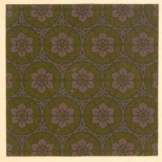Ontwerp voor gordijnstof of meubelstof met bloemmotief - Textielmuseum (registratiefoto), Stoomlinnenfabrieken J. Elias (Eindhoven)