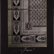 Patroontekening (gedrukt) vloerkleed dessinnr. 1104 'Java' - Koninklijke Deventer Tapijtfabriek (Deventer)