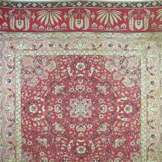 Sprei met gestileerde bloemmotieven - P.F. van Vlissingen & Co. (Helmond), Johan Jacobs, Textielmuseum (registratiefoto)