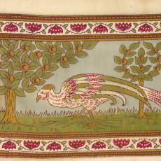 Kledingstof met dessin in Perzische stijl - Johan Jacobs, P.F. van Vlissingen & Co. (Helmond)
