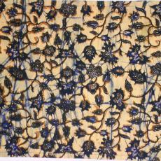 Imitatiebatik met floraal patroon - Textielmuseum (registratiefoto), Johan Jacobs, P.F. van Vlissingen & Co. (Helmond)