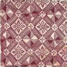 Kussenovertrek met imitatiebatik - Textielmuseum (registratiefoto), Johan Jacobs, P.F. van Vlissingen & Co. (Helmond)