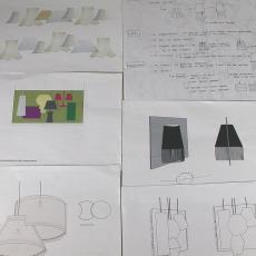 Ontwerp voor geweven lamp 'Multiply', prototype - Audax Textielmuseum Tilburg, Textielmuseum (registratiefoto), Van Eijk & Van der Lubbe, Textielmuseum (registratiefoto)