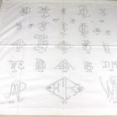 Ontwerp voor te borduren monogrammen - Walra (Waalre), Van Dijk-Manders (Waalre)