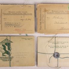 Monsterboekjes met stalen van diverse droogdoeken - Walra (Waalre), Van Dijk-Manders (Waalre)