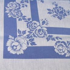 Blauw-wit tafelgoed met rozenpatroon - Textielmuseum (registratiefoto), Van Dijk-Manders (Waalre), Walra (Waalre)