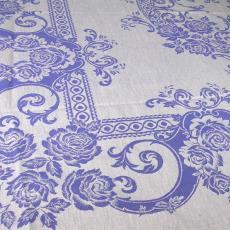 Blauw-wit tafelgoed met roosmotief - Walra (Waalre), Textielmuseum (registratiefoto), Van Dijk-Manders (Waalre)