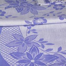Blauw-wit tafelgoed met bloemenmotieven - Van Dijk-Manders (Waalre), Textielmuseum (registratiefoto), Walra (Waalre)