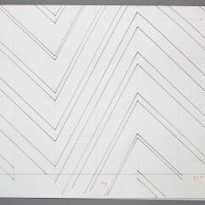 Ontwerptekening voor gordijnstof met ruit- en streepmotief - Weverij De Ploeg (Bergeijk), De Witte Lietaer (België), Diek Zweegman, Textielmuseum (registratiefoto), Textielmuseum (registratiefoto), Textielmuseum (registratiefoto)