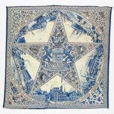 Gedenkdoek ter gelegenheid van 100 jaar Van Vlissingen & Co / Vlisco - P.F. van Vlissingen & Co. (Helmond), Textielmuseum (registratiefoto)