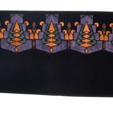 Gesjabloneerd schoorsteenkleed met Art Decomotieven (Talens No. 107) - Paul van Dam, Talens & Zoon