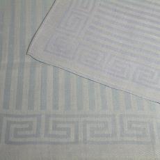 Linnen handdoek en fonteindoek met strepen en Griekse rand (dessinnr. 1609) - Linnenfabrieken E.J.F. van Dissel & Zonen (Eindhoven), Kitty van der Mijll Dekker (Fischer-), Textielmuseum (registratiefoto)