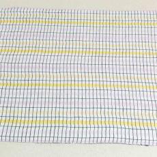 Fonteindoek met kettingstrepen (dessinnr.417) in lila-geel - Kitty (Fischer-) van der Mijll Dekker (toegeschreven), Textielmuseum (registratiefoto), Linnenfabrieken E.J.F. van Dissel & Zonen (Eindhoven)