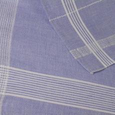 Lichtblauw ontbijtlaken en vingerdoekje met wit lijnenpatroon - Textielmuseum (registratiefoto), Linnenfabrieken E.J.F. van Dissel & Zonen (Eindhoven), Kitty (Fischer-) van der Mijll Dekker (toegeschreven)