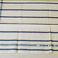 Halflinnen handdoek met ingeweven naam 'SITMAR LINE 69 vD' - Textielmuseum (registratiefoto), Linnenfabrieken E.J.F. van Dissel / Van den Briel & Verster (Eindhoven), Sitmar Line, Koninklijke Weverij Van Dijk (Eindhoven)