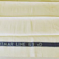 Droogdoek met ingeweven tekst 'SITMAR LINE 69 vD' - Linnenfabrieken E.J.F. van Dissel / Van den Briel & Verster (Eindhoven), Sitmar Line, Textielmuseum (registratiefoto), Koninklijke Weverij Van Dijk (Eindhoven)