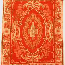 Deken met patroon in art-decostijl - onbekend, Textielmuseum (registratiefoto)