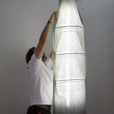Geweven lamp 'Multiply' - Textielmuseum (registratiefoto), Van Eijk & Van der Lubbe, Audax Textielmuseum Tilburg, Van Eijk & Van der Lubbe, Van Eijk & Van der Lubbe