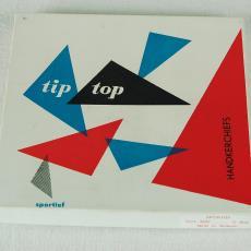 Tiptop-zakdoeken in doosje - Textielmuseum (registratiefoto), Textielmuseum (registratiefoto), Swan (toegeschreven)